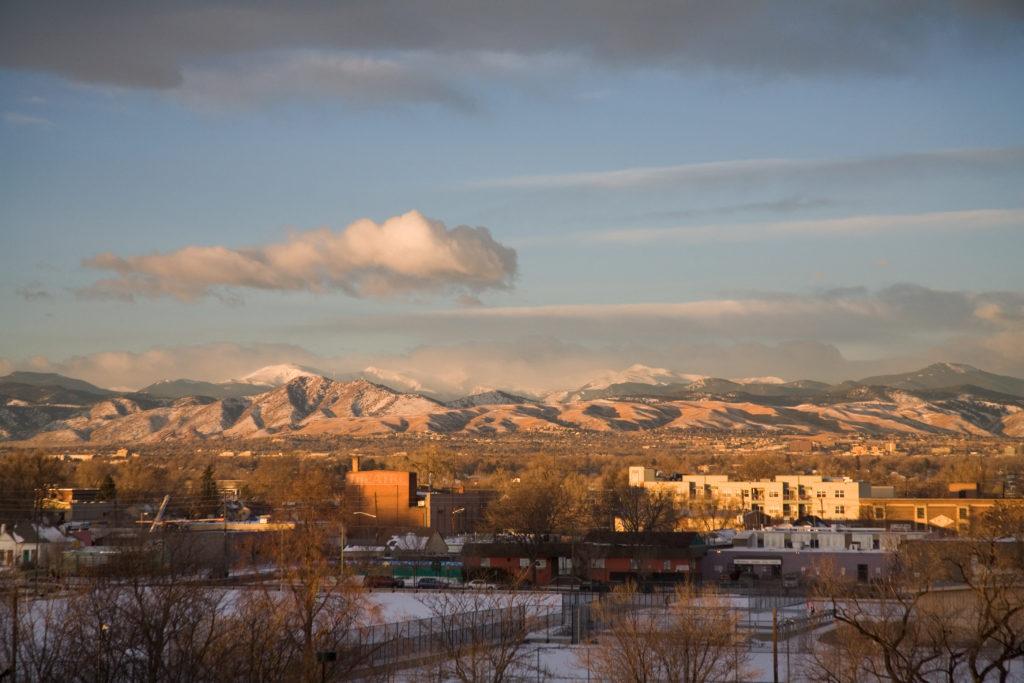 Mount Evans sunrise - January 5, 2011