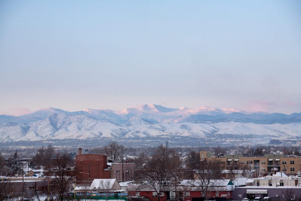 Mount Evans sunrise - January 10, 2011
