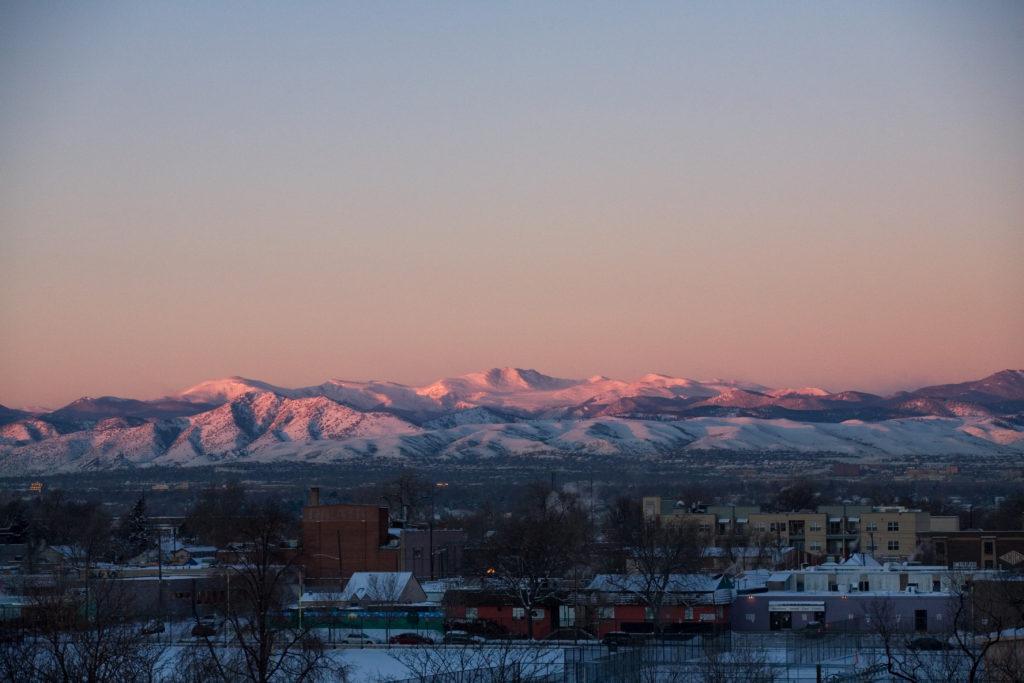 Mount Evans sunrise - January 11, 2011