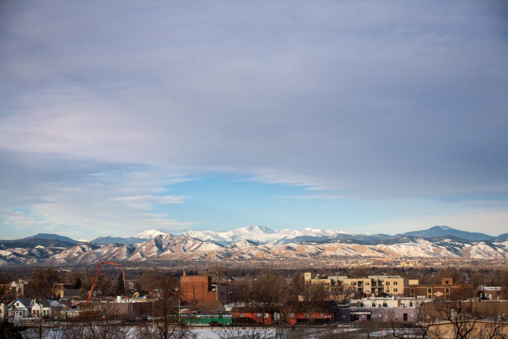 Mount Evans sunrise - January 15, 2011