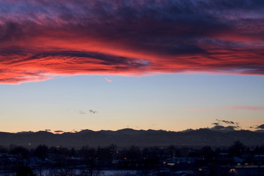 Mount Evans sunset - January 15, 2011