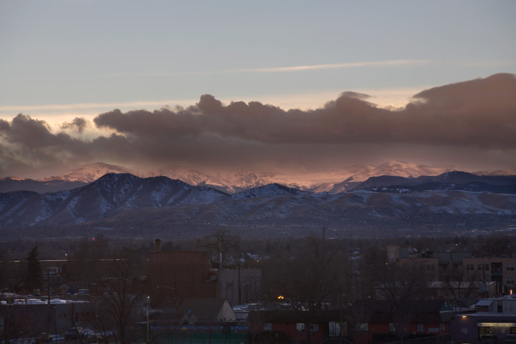 Mount Evans sunset - January 16, 2011
