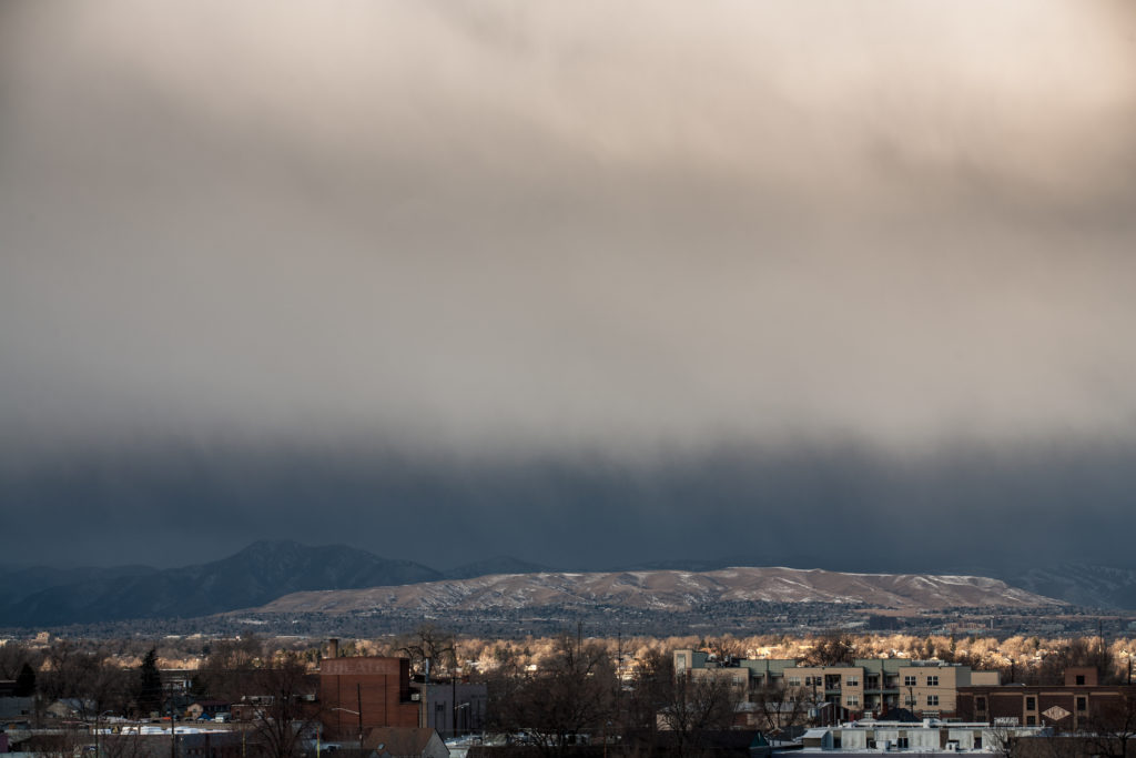 Mount Evans obscured - January 17, 2011