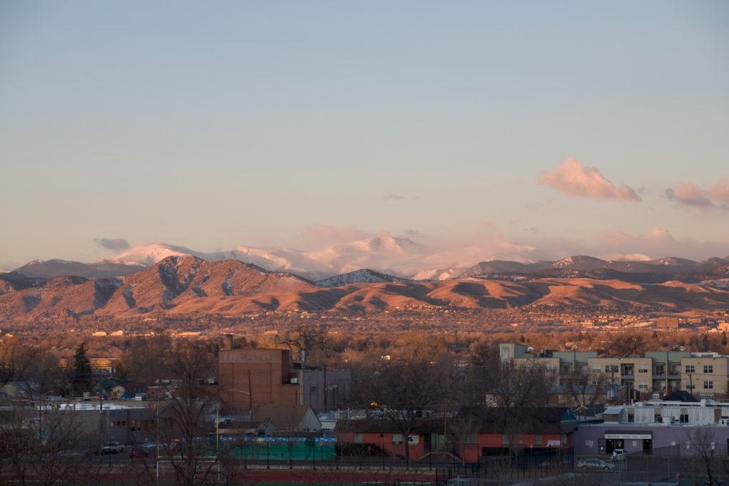 Mount Evans sunrise - January 18, 2011