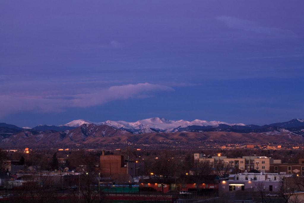 Mount Evans sunrise - January 25, 2011