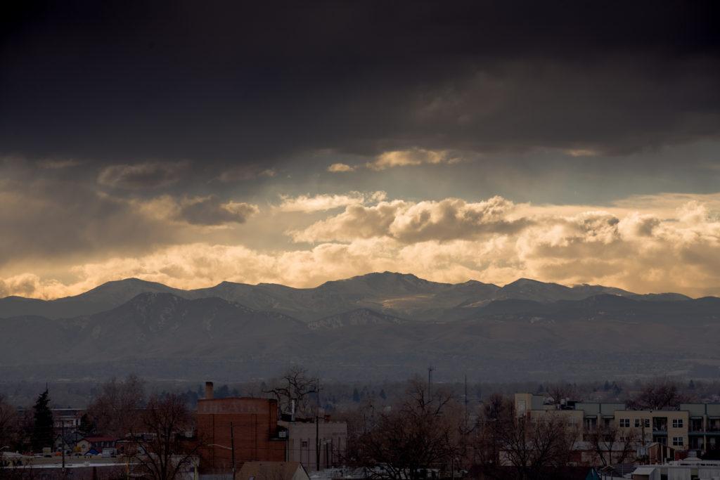 Mount Evans sunset - January 30, 2011