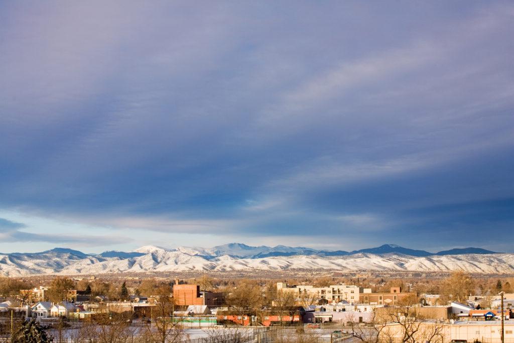 Mount Evans sunsrise - February 3, 2011