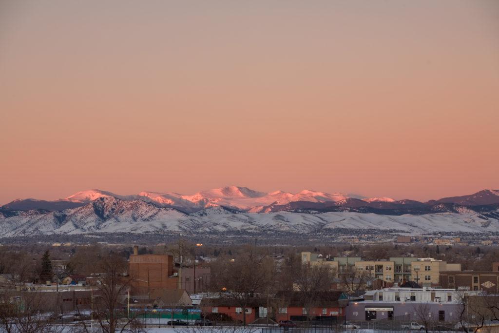 Mount Evans sunrise - February 13, 2011