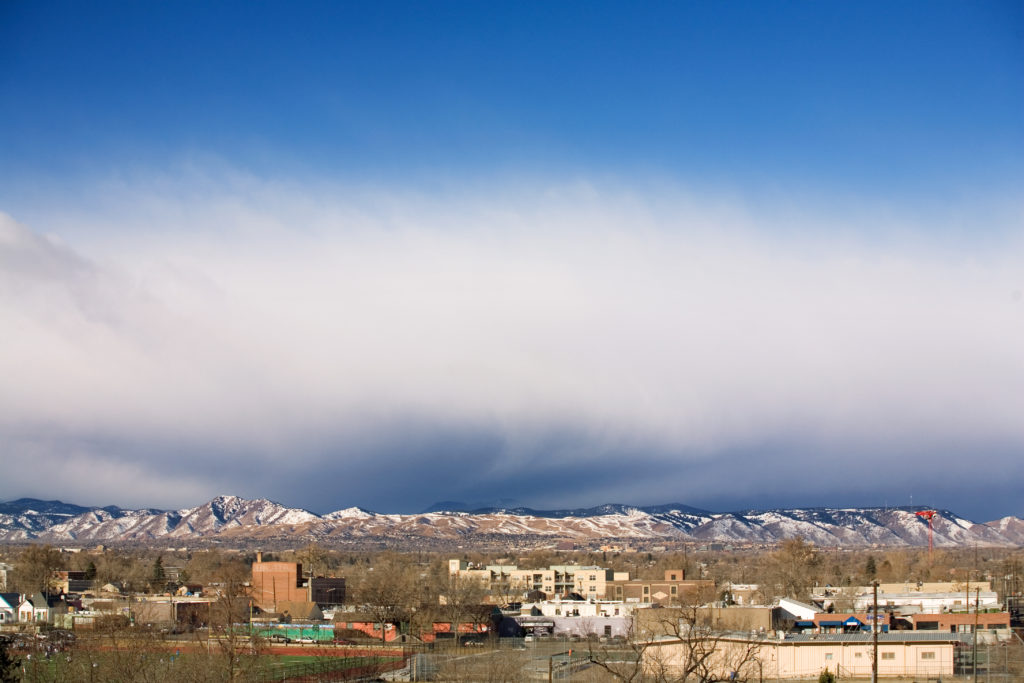 Mount Evans obscured - February 17, 2011
