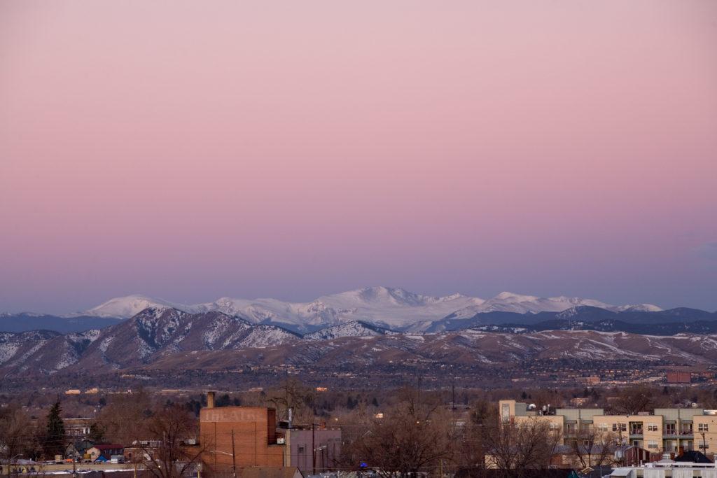 Mount Evans sunrise - February 19, 2011