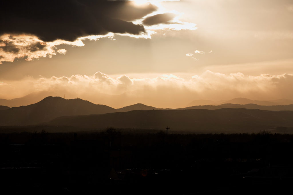 Mount Evans sunset - February 27, 2011