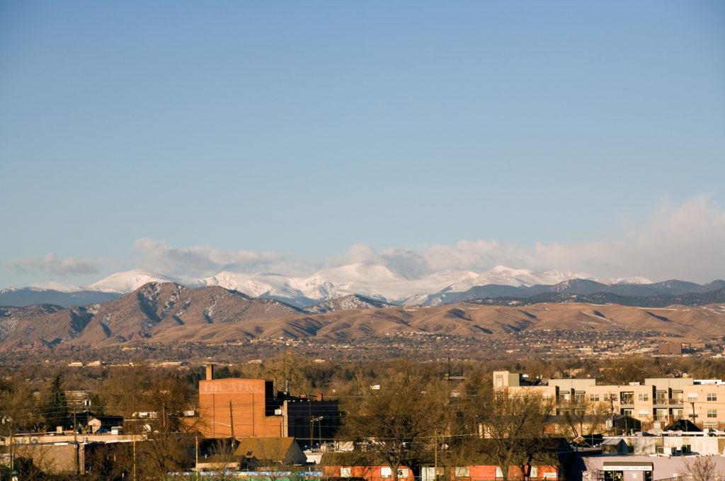 Mount Evans sunrise - March 3, 2011