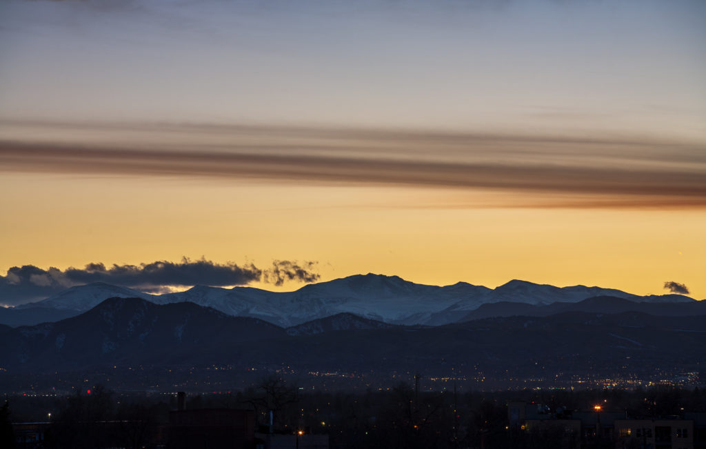 Mount Evans sunset - March 9, 2011