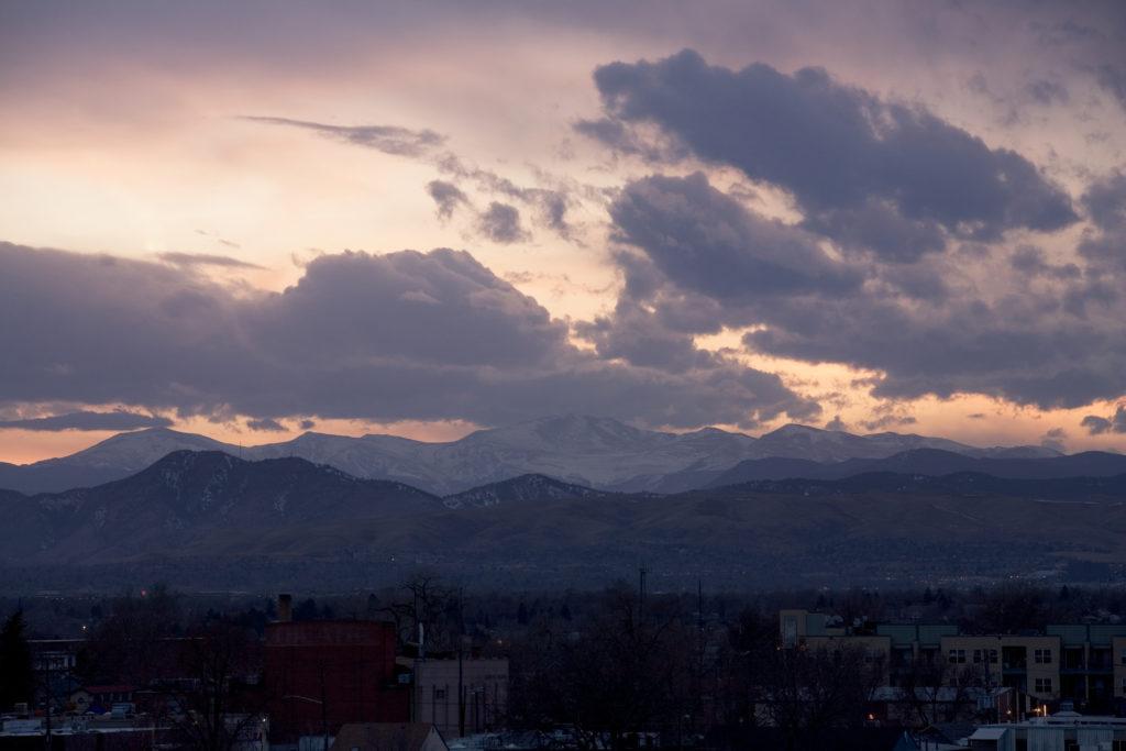 Mount Evans sunset - March 12, 2011