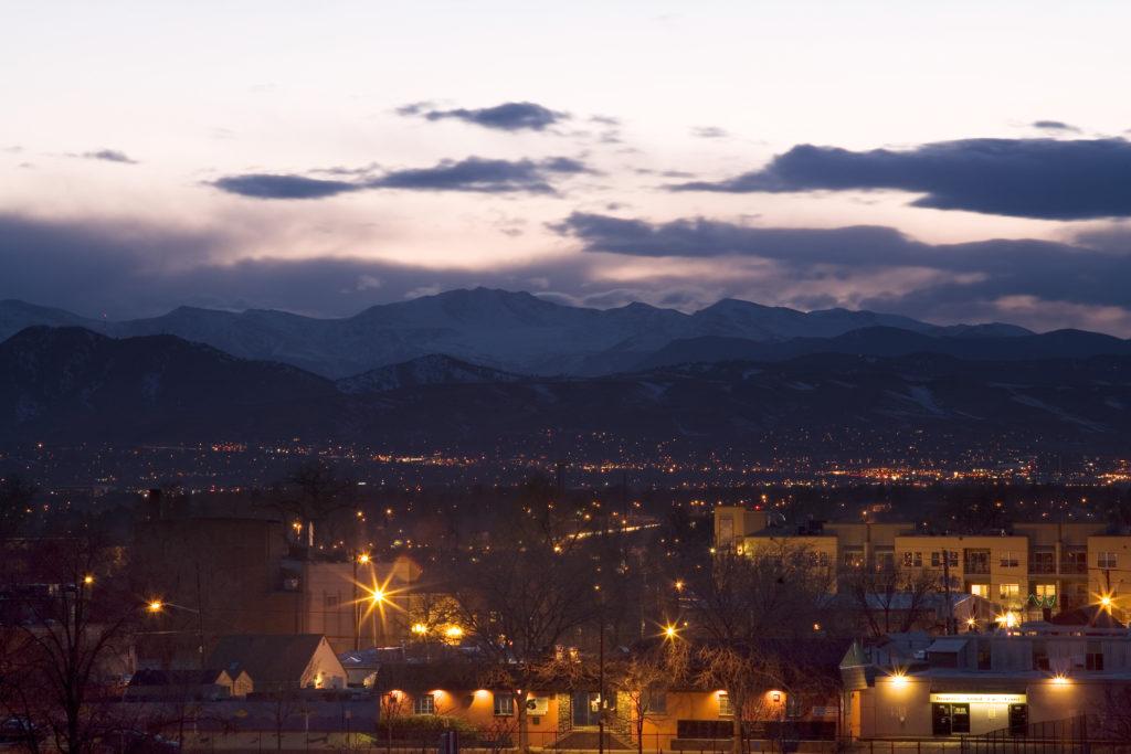 Mount Evans sunset - March 13, 2010