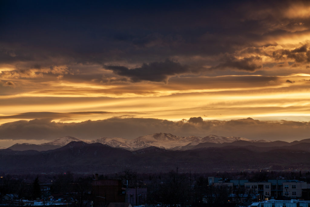 Mount Evans sunset - March 14, 2011