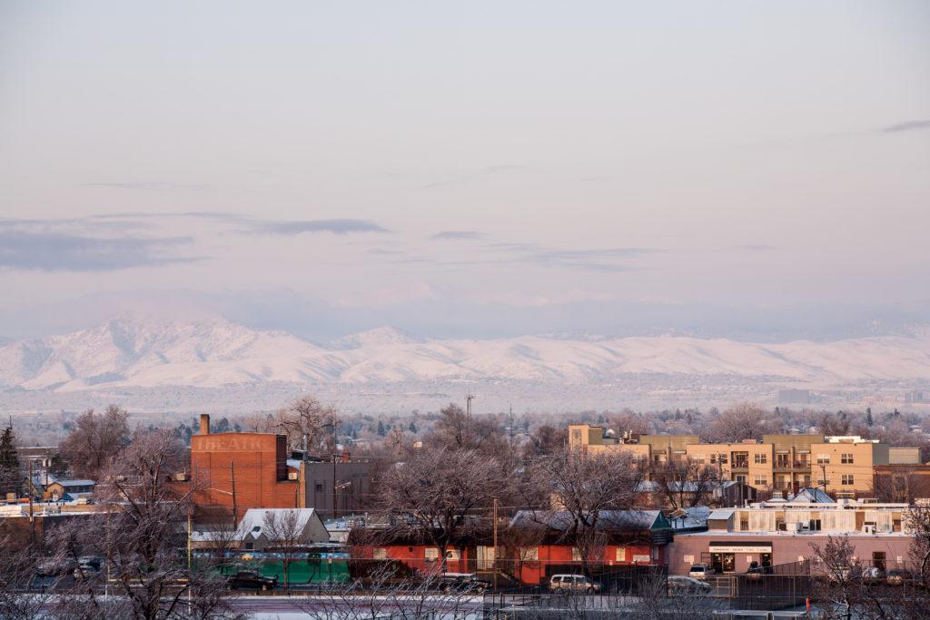 Mount Evans sunrise - March 18, 2011