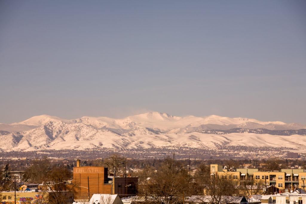 Mount Evans sunrise - March 20, 2010