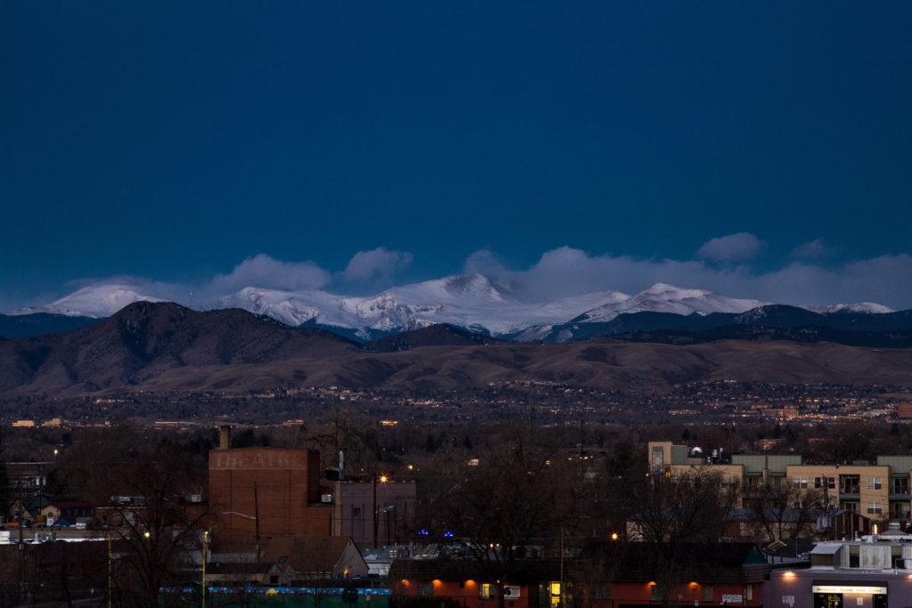 Mount Evans sunrise - March 22, 2011