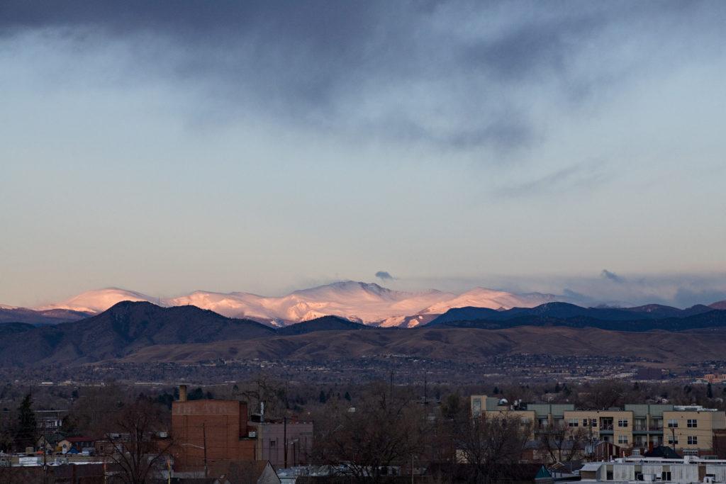 Mount Evans sunrise - March 29, 2011
