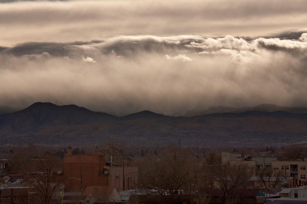 Mount Evans sunrise - March 30, 2011