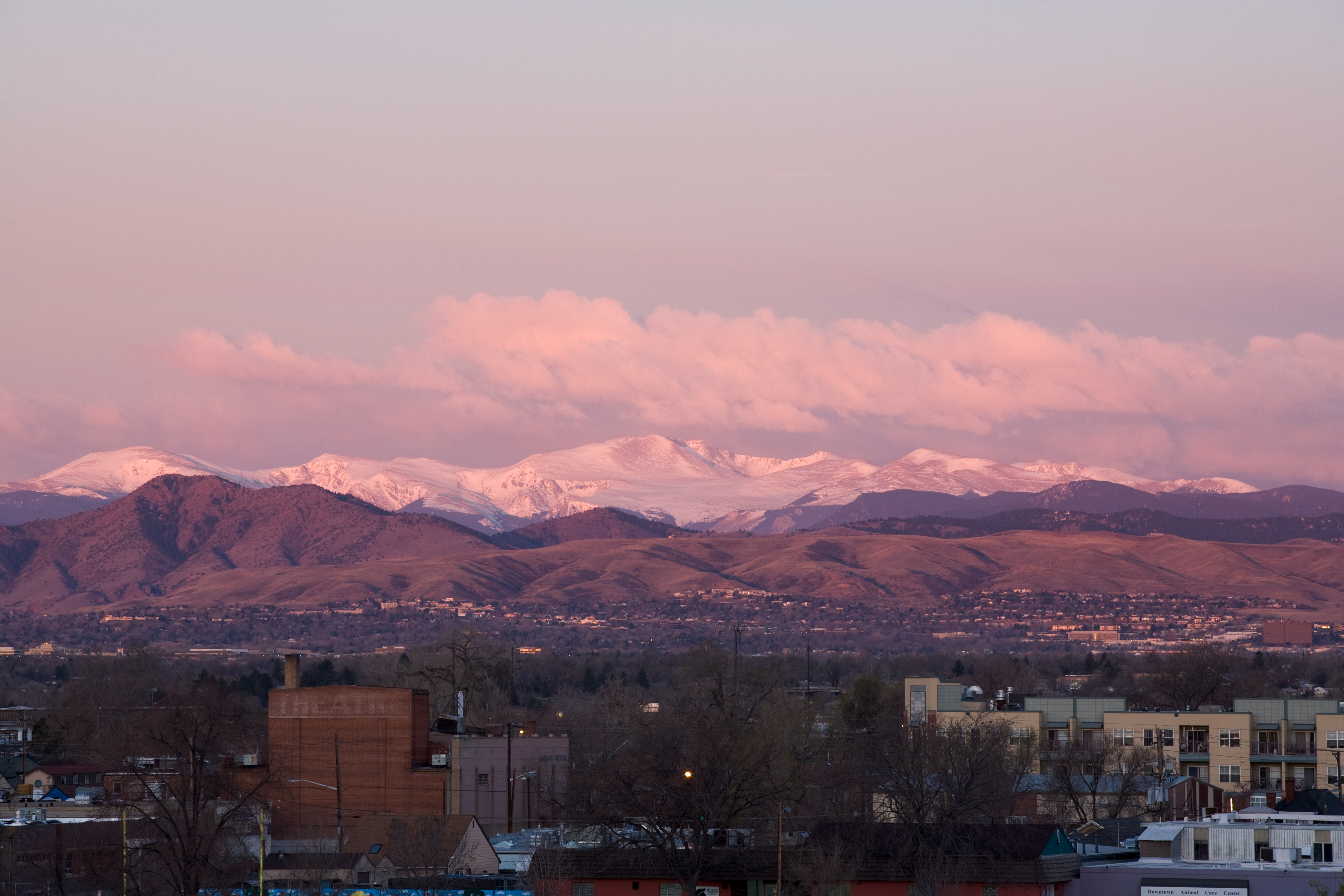 Mount Evans sunrise - April 1, 2011