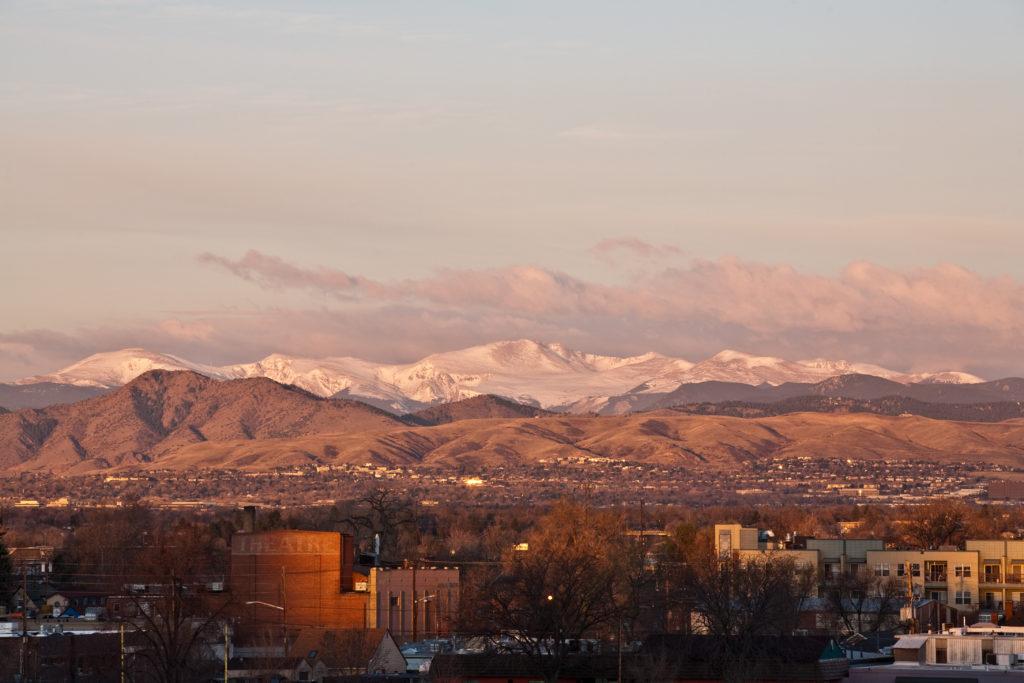 Mount Evans sunrise - April 1, 2011