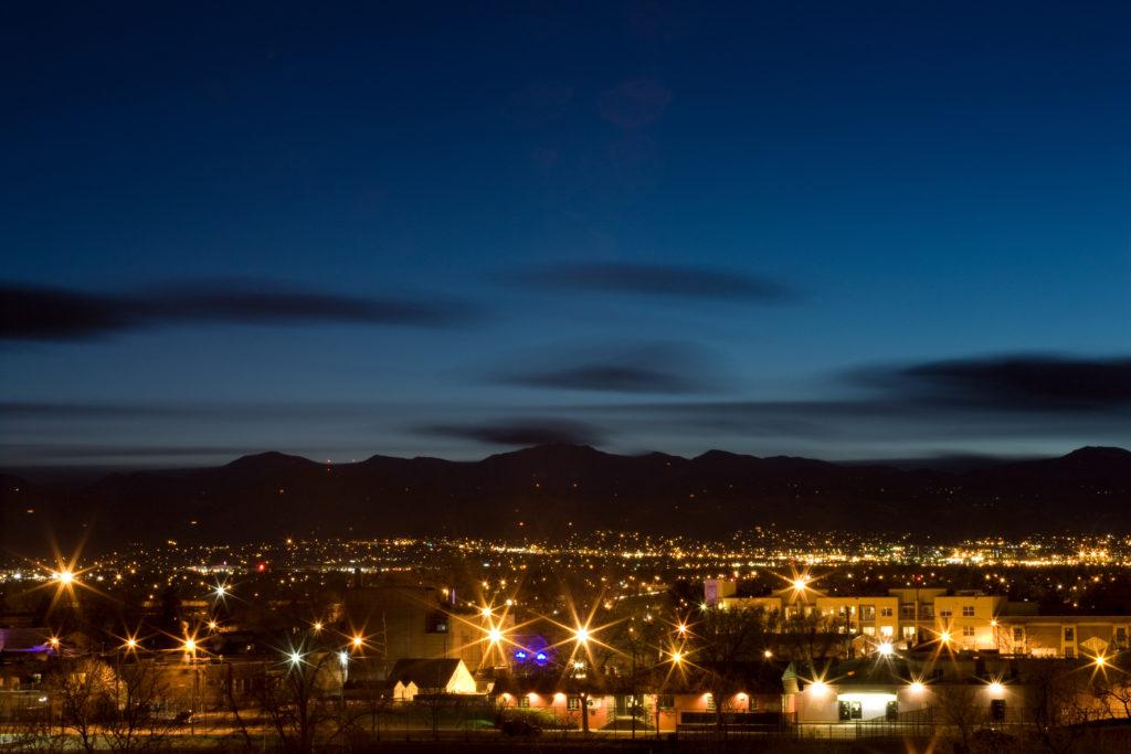 Mount Evans after sunset - April 4, 2011