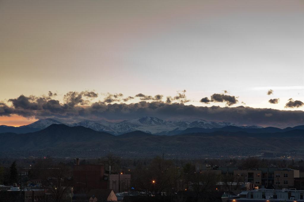 Mount Evans after sunset - April 5, 2011