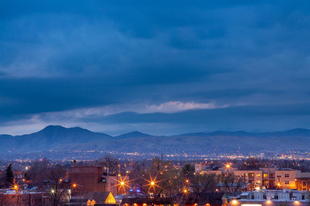 Mount Evans after sunset - April 6, 2011