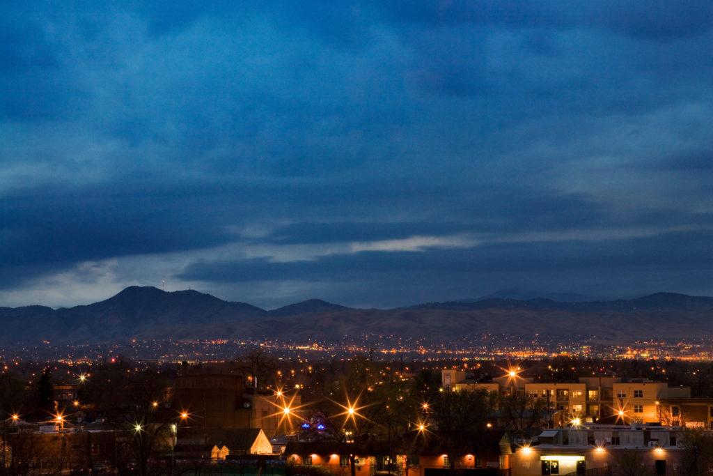 Mount Evans at night - April 6, 2011