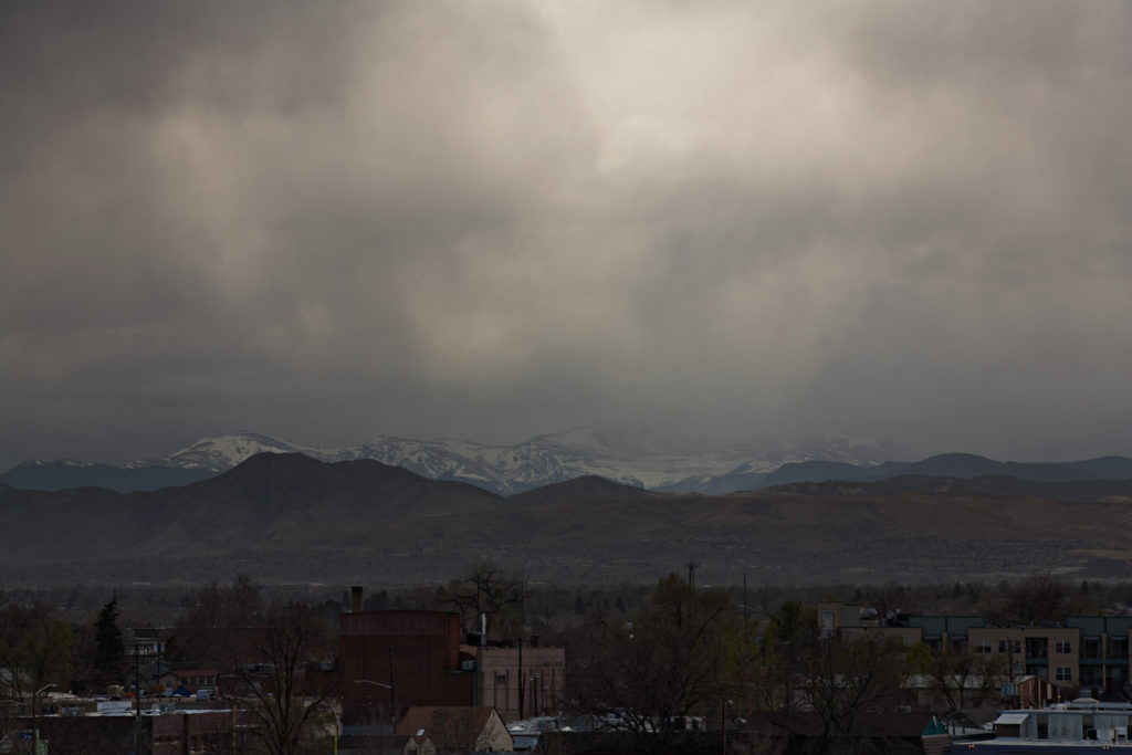 Storm over Mount Evans - April 9, 2011