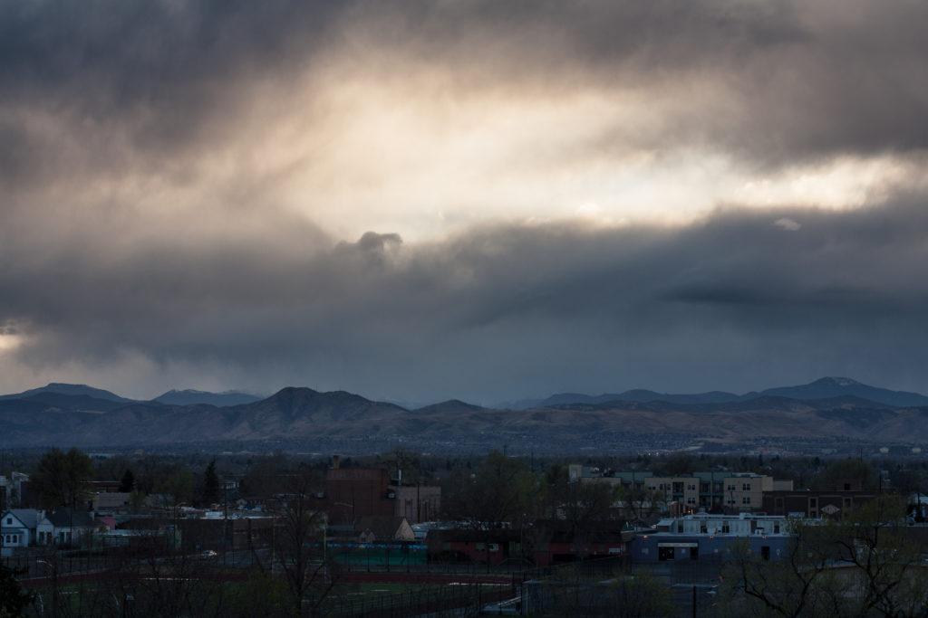 Mount Evans sunset storm - April 9, 2011
