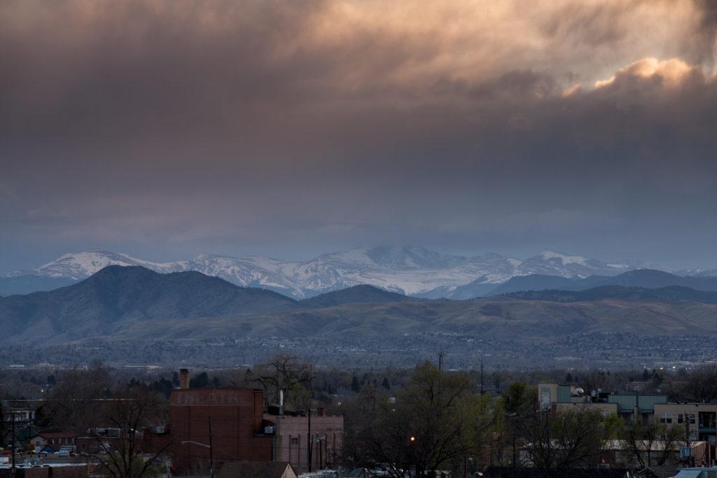 Mount Evans sunset - April 9, 2011