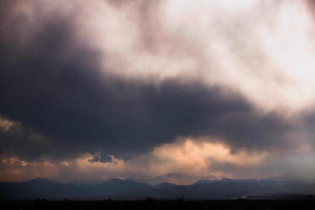 Mount Evans storm