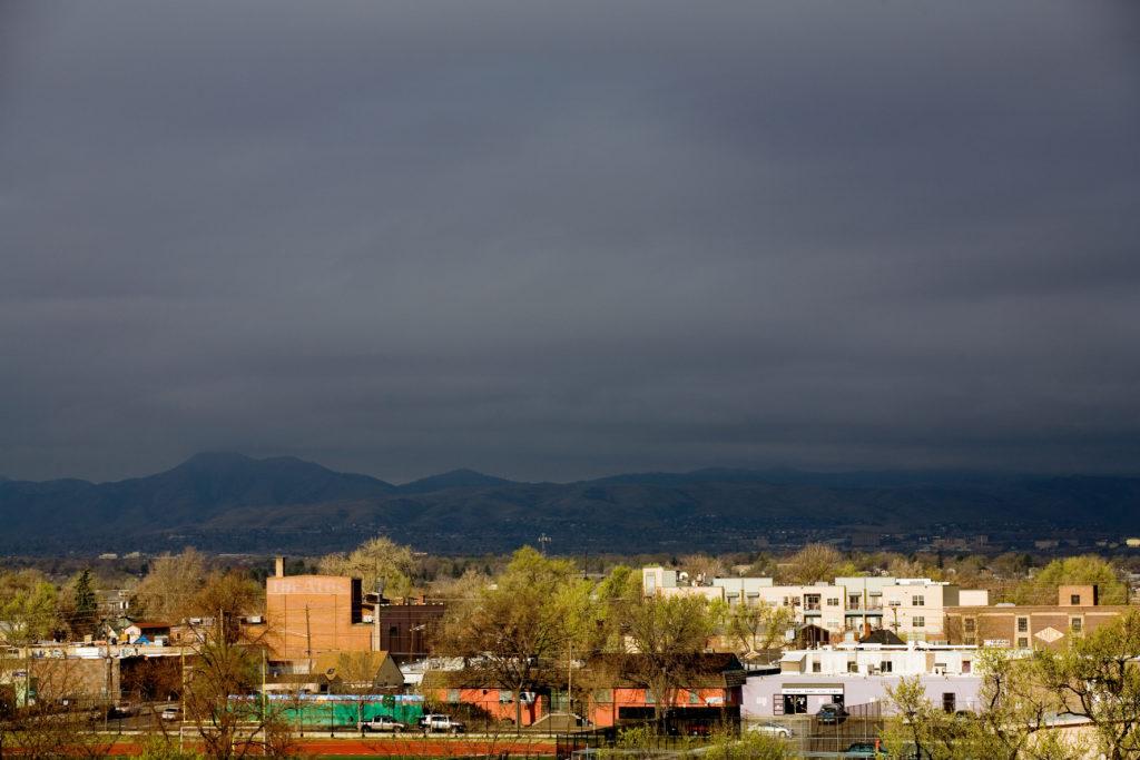 Mount Evans sunrise - April 13, 2011
