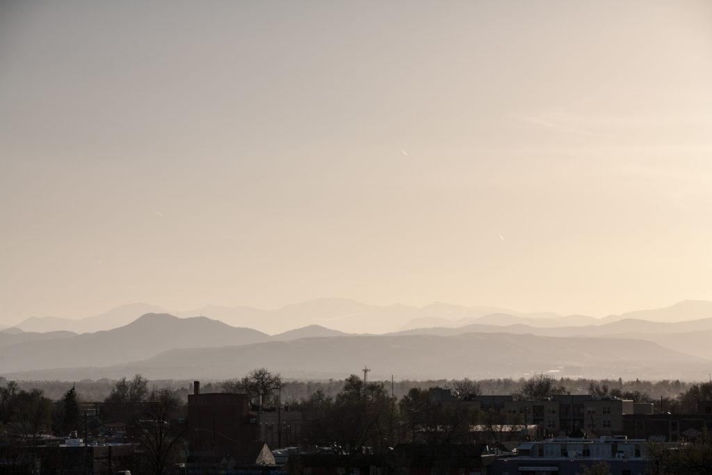 Mount Evans sunrise - April 15, 2011