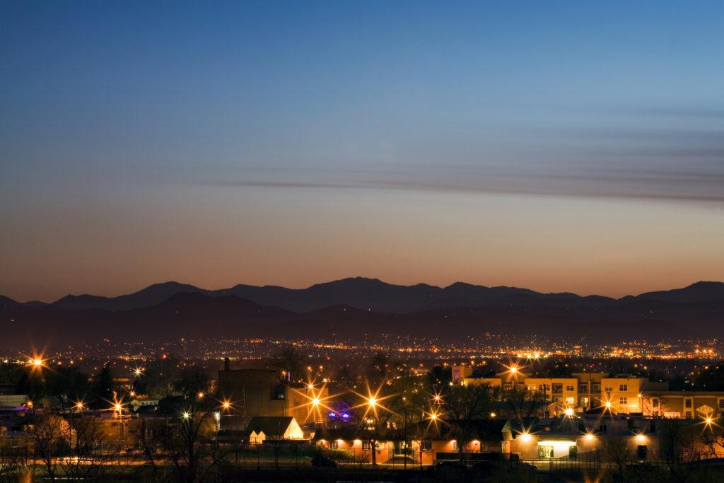Mount Evans sunset - April 15, 2011