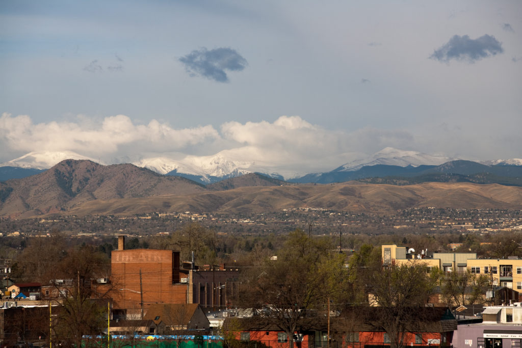 Mount Evans sunrise - April 18, 2011