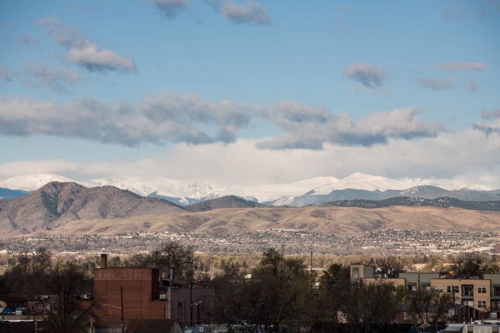 Mount Evans sunrise - April 19, 2011