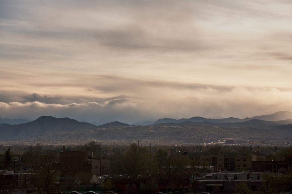 Mount Evans sunset - April 19, 2011