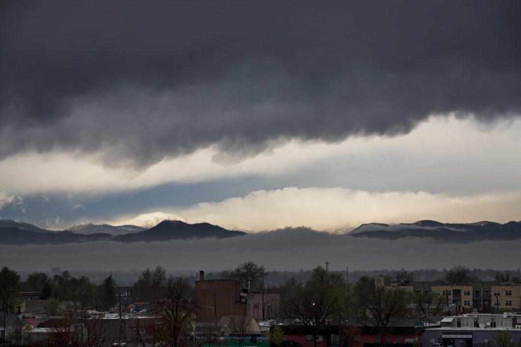 Mount Evans sunrise - April 21, 2011