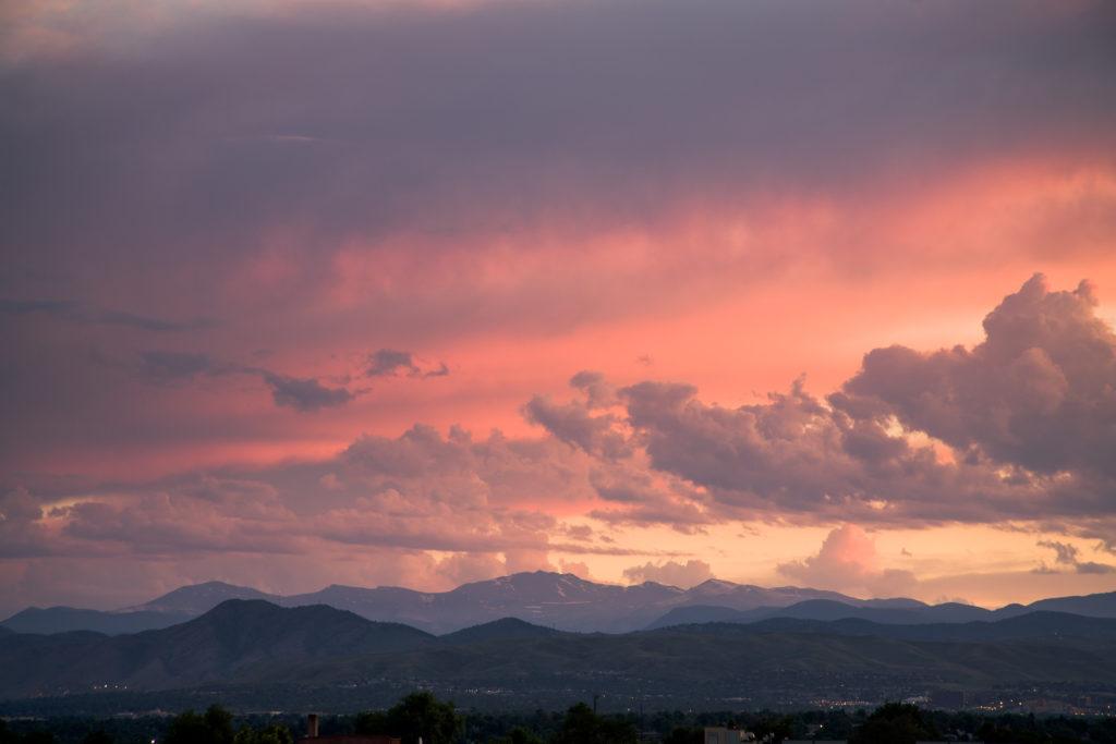 Mount Evans Sunset - June 27, 2010