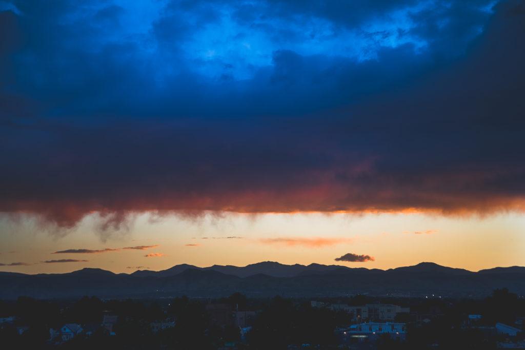 Mount Evans sunset - July 3, 2010