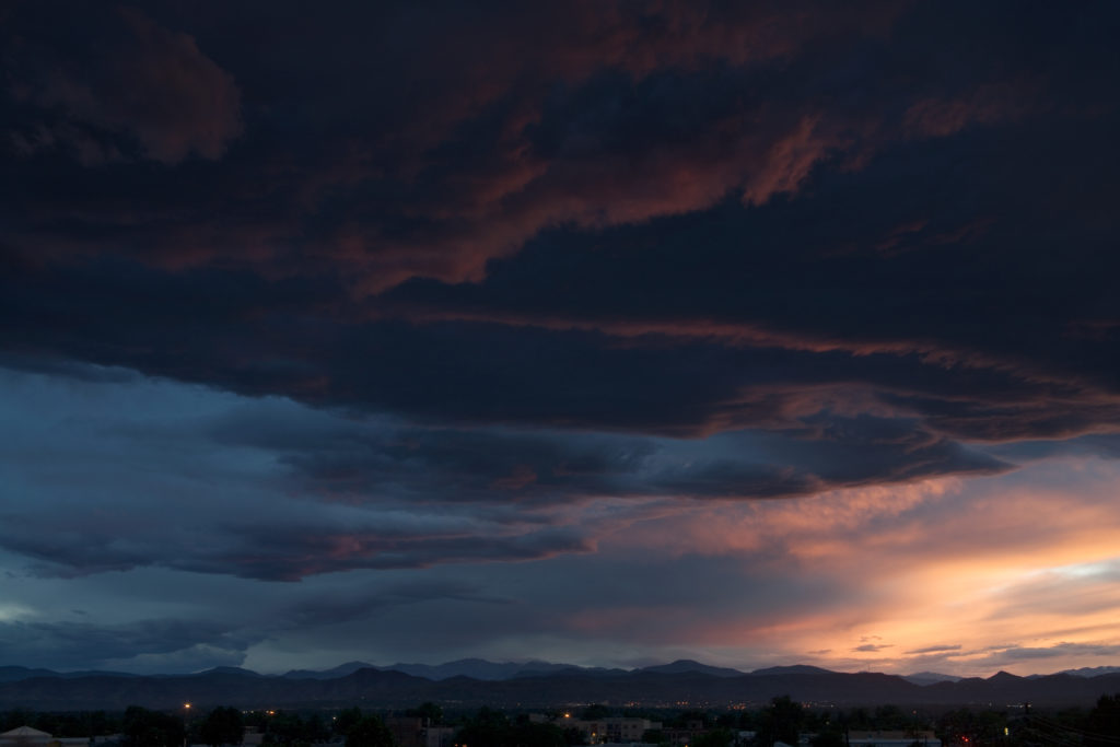 Mount Evans sunset - July 11, 2020