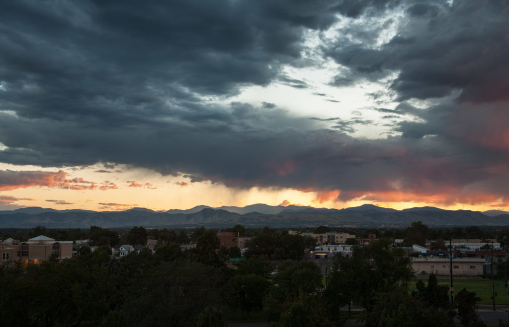 Mount Evans sunset - August 10, 2010