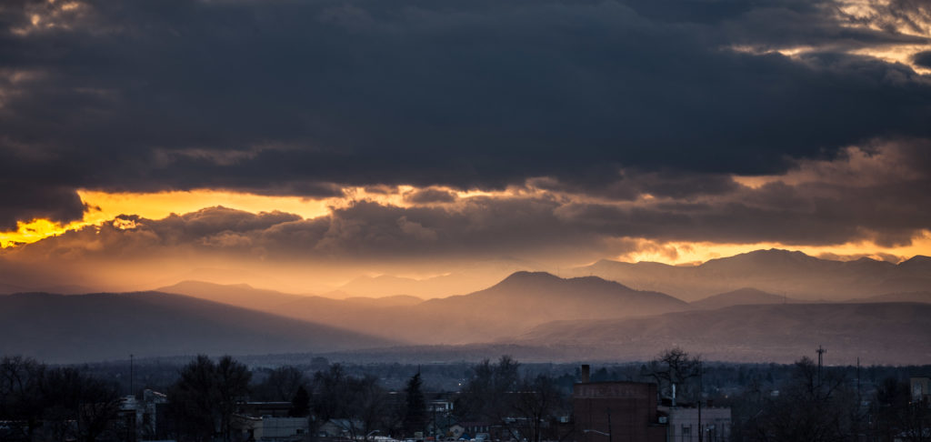 Mount Evans sunset - December 5, 2010