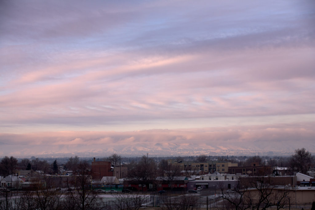 Mount Evans sunrise - December 17,, 2010