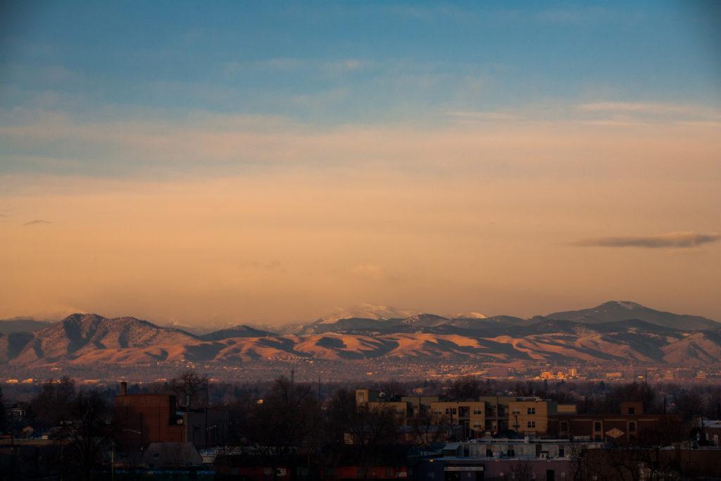 Mount Evans sunrise - December 18, 2010