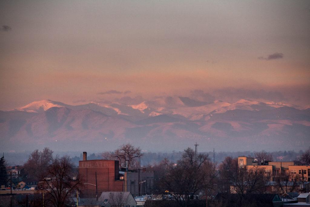 Mount Evans sunrise - December 23, 2010